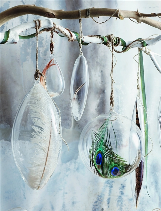 Roostルースト Floating Feather Ornaments Jumbo フェザーオーナメント大 3個セット