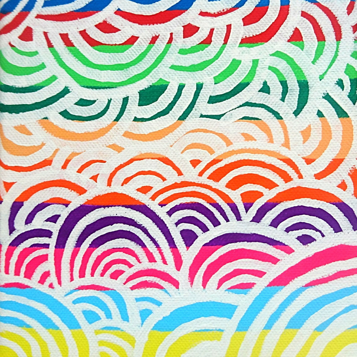 絵画 絵 ピクチャー 縁起画 モダン シェアハウス アートパネル アート art 14cm×14cm 一人暮らし 送料無料 インテリア 雑貨 壁掛け 置物 おしゃれ ロココロ 抽象画 現代アート ロココロ 画家 : ごま 作品 : 虹雲