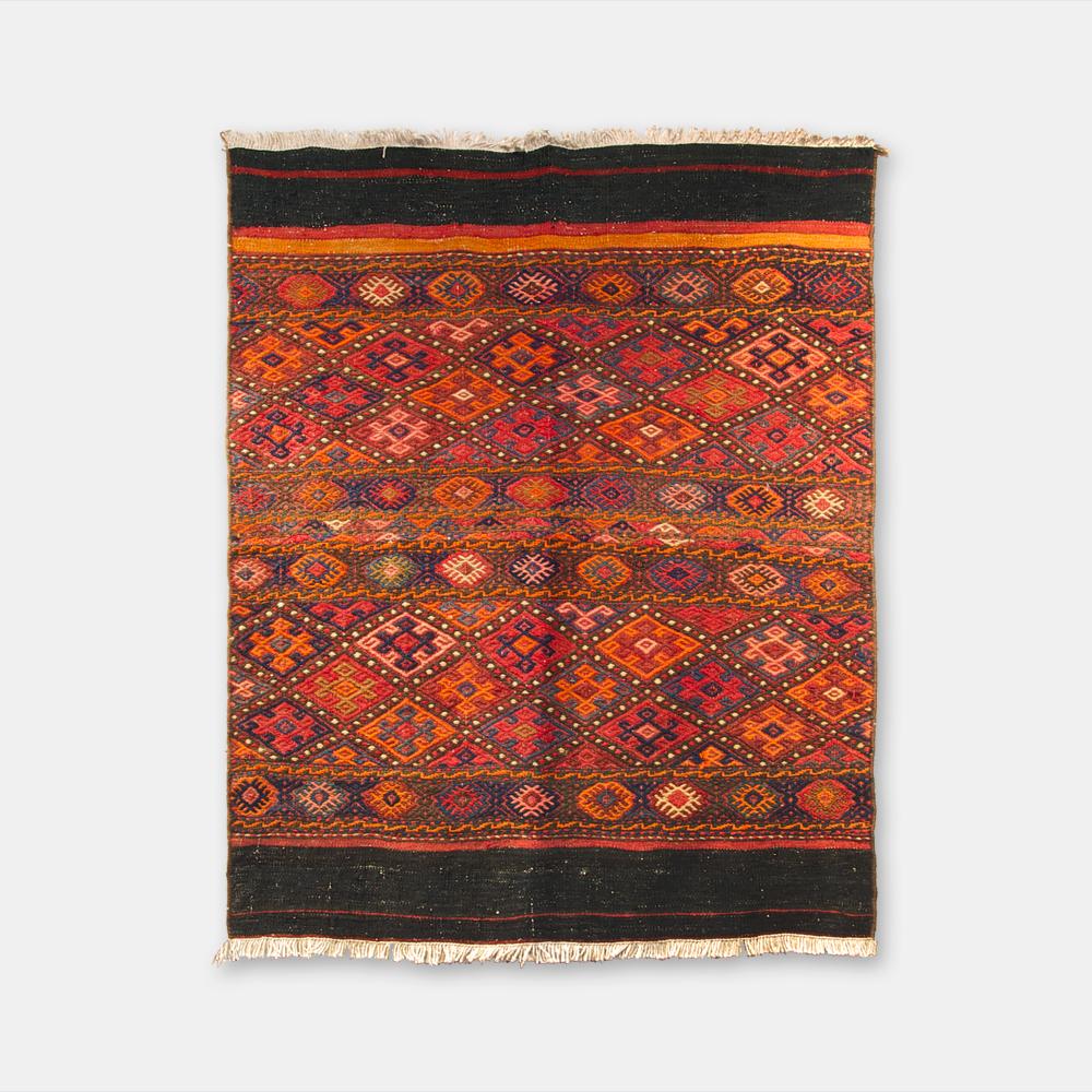 VINTAGE オールドキリム アゼルバイジャン スマック織り 1100×900mm K1890
