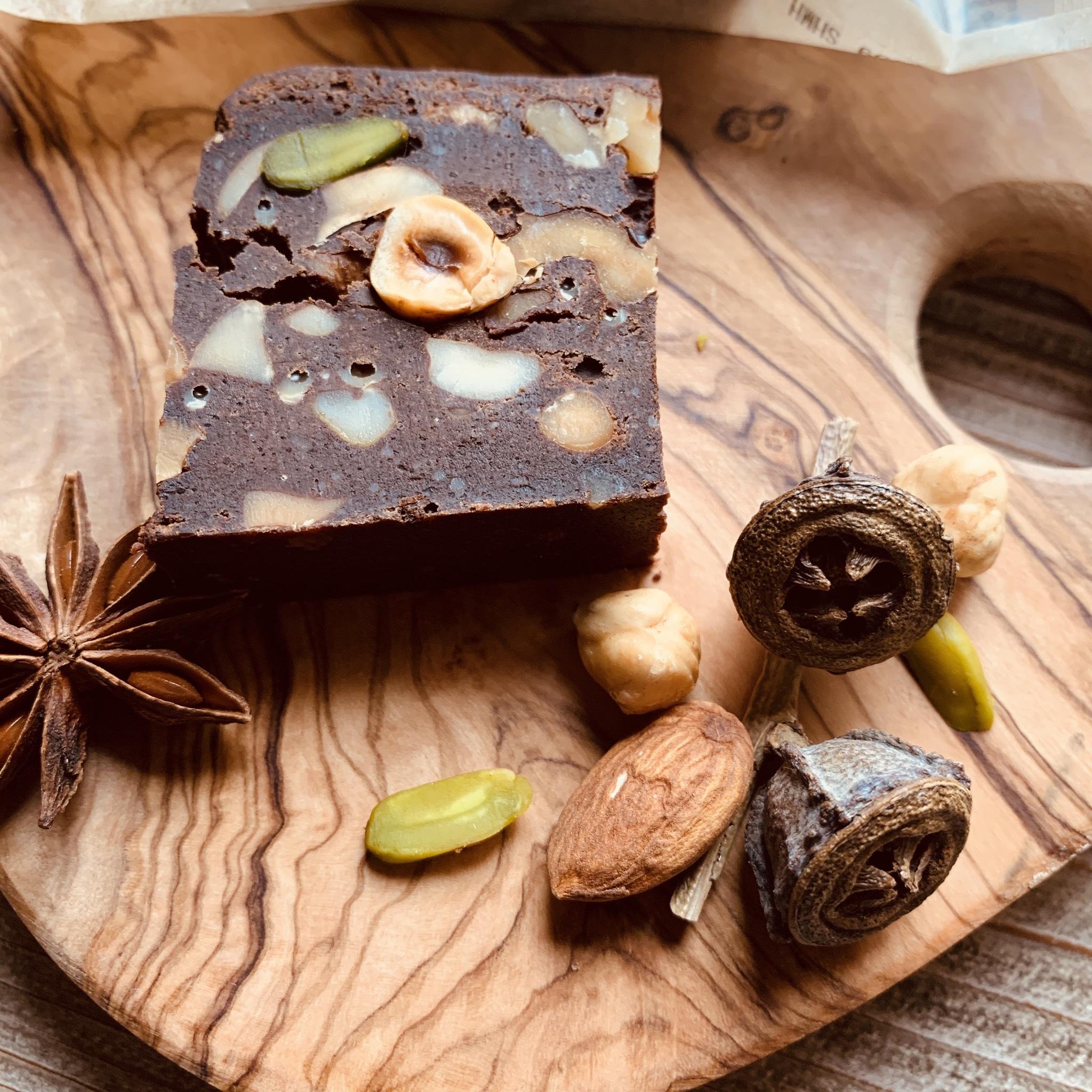 店頭受取り専用 糀甘酒とナッツたっぷりベイクドチョコレート カット