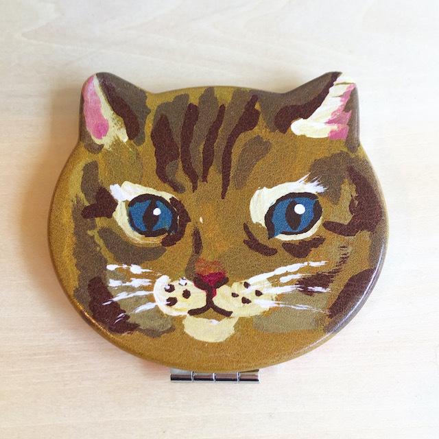 Nathalie Lete Compact Mirror Cat Maya ナタリーレテ コンパクトミラー