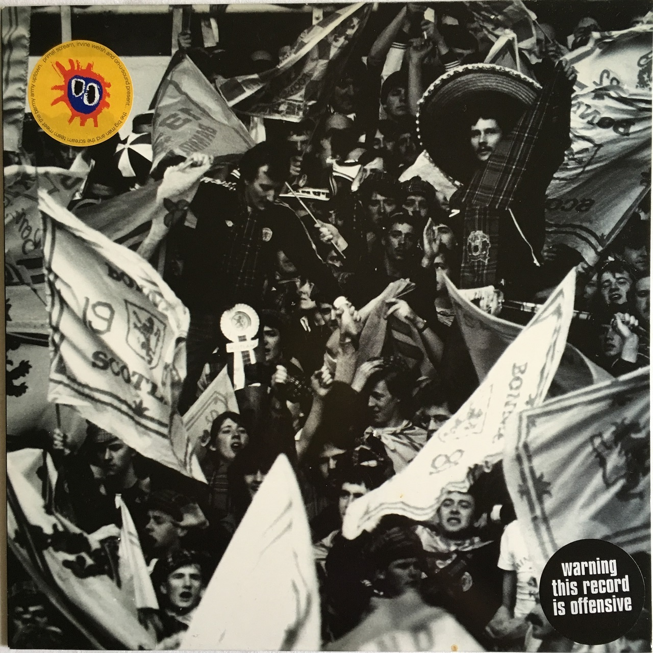 【12inch・英盤】Primal Scream, Irvine Welsch and On-U-Sound / The Big Man and the Scream Team Meet the Barmy Army Uptown