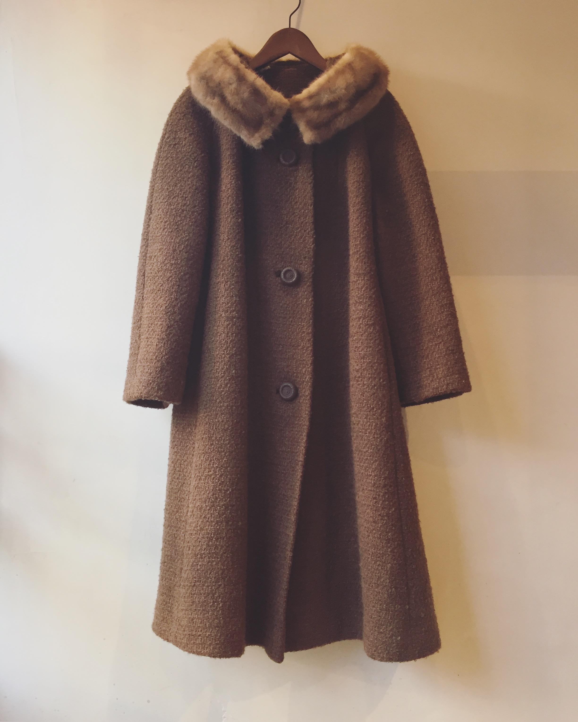 vintage 1950s mink fur coat