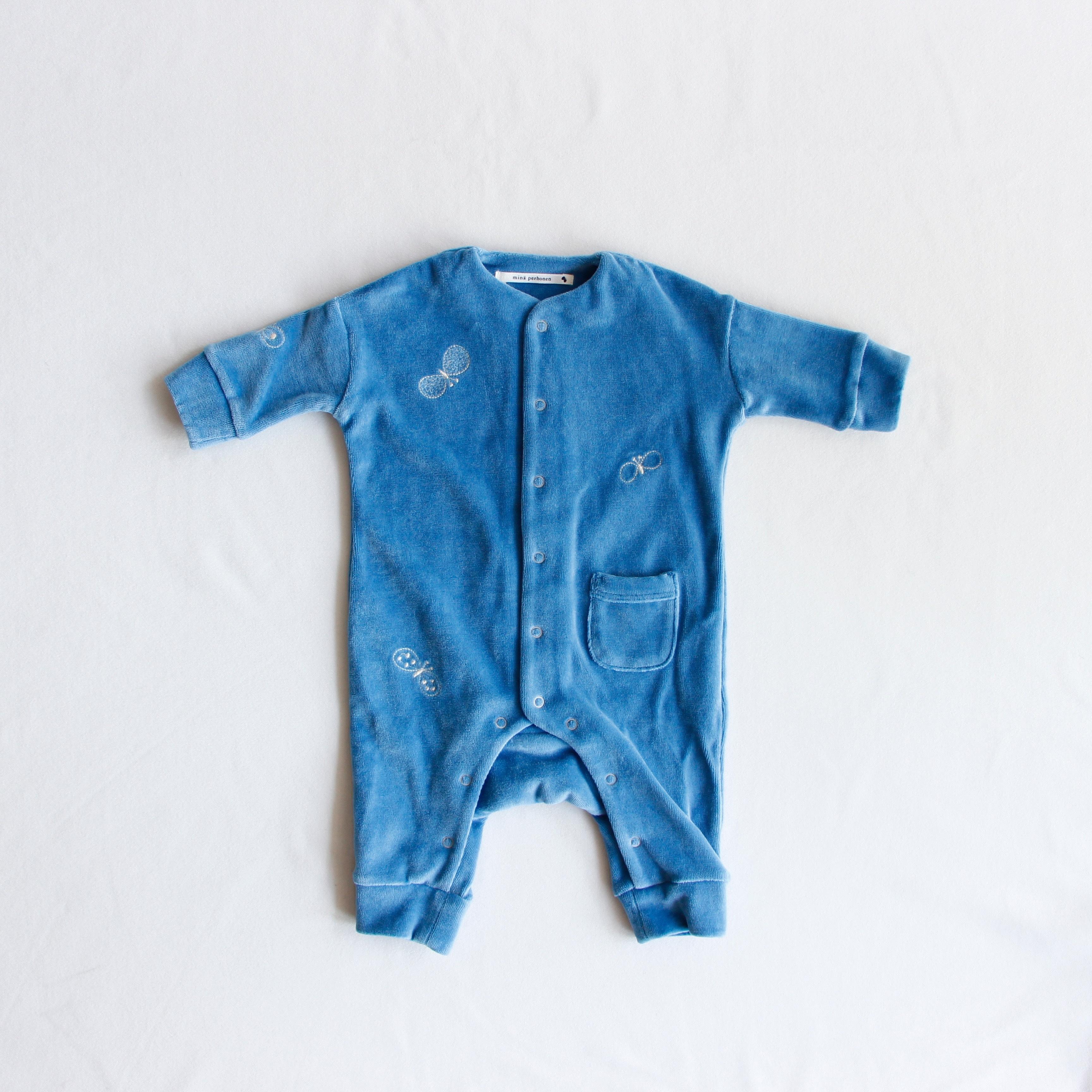 《mina perhonen 2018AW》choucho ロンパース / blue