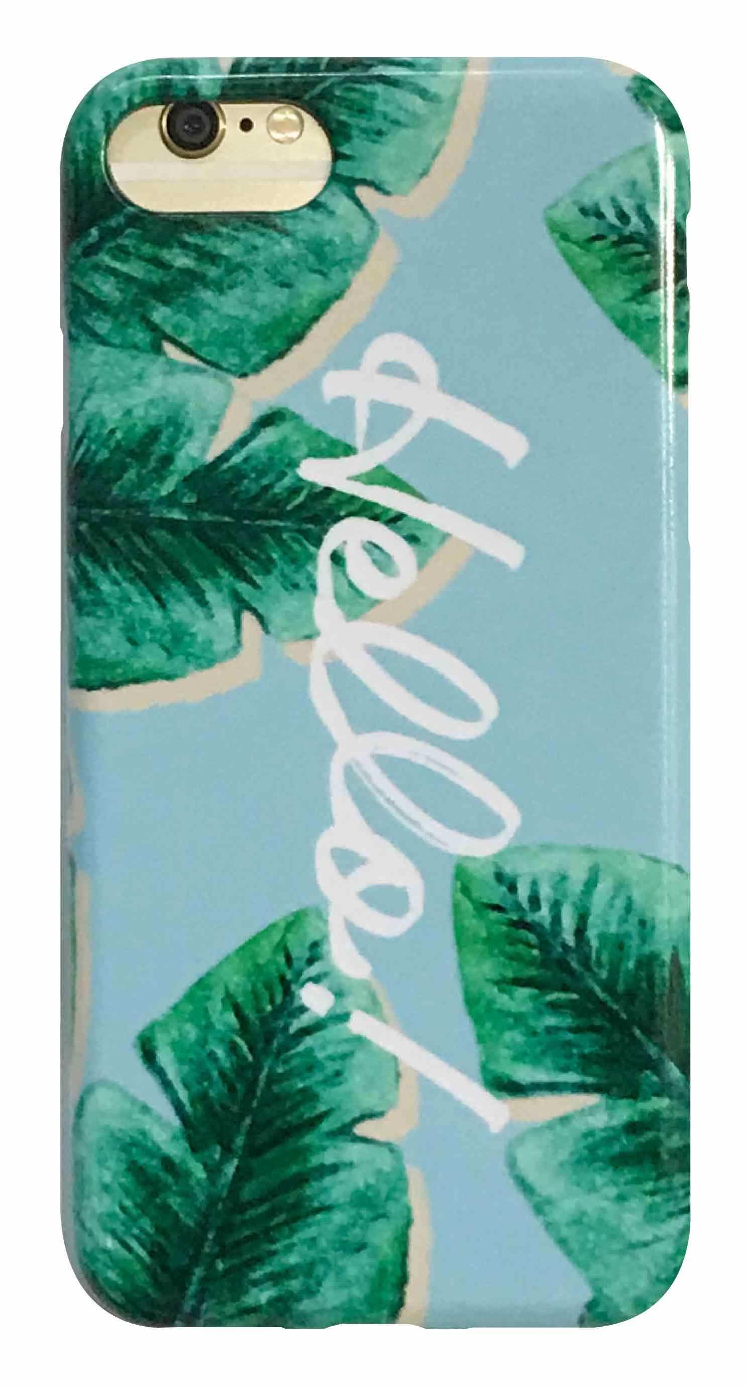 hello leaf ブルー つや有りハードケース