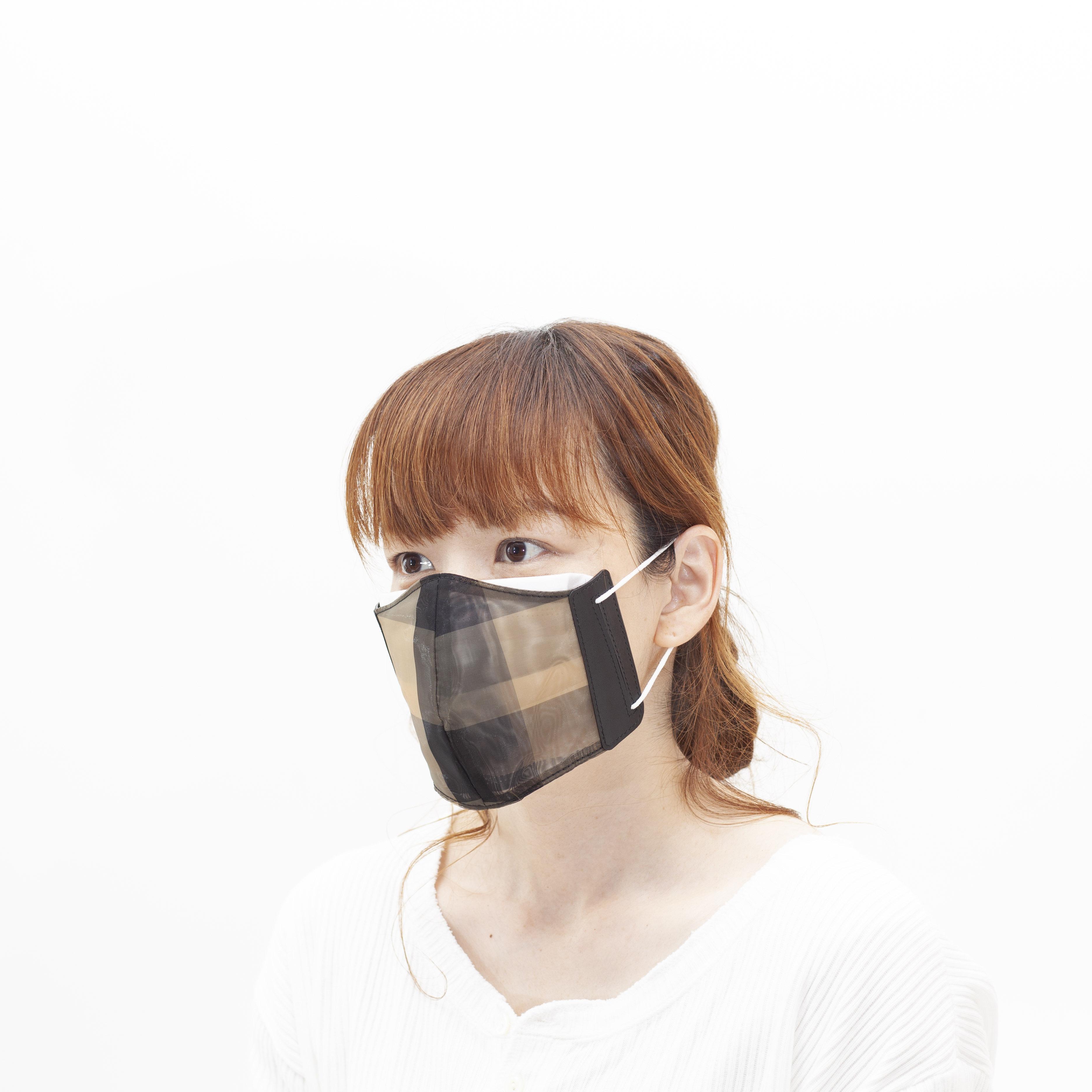 定番素材のチュールで作ったマスクカバー