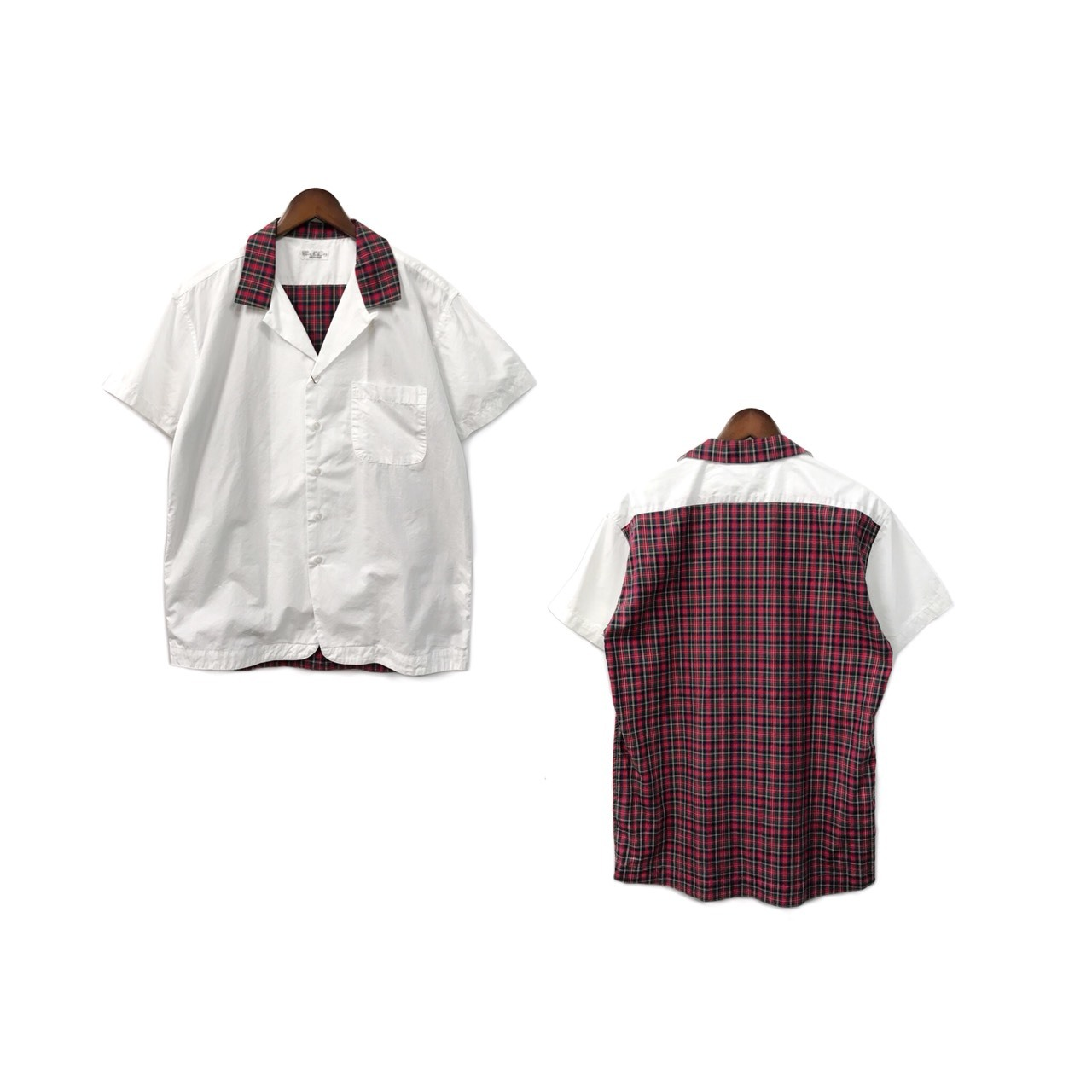 Soe Shirt - Switching Open Collar Shirt (size - 0) ¥12000+tax → ¥8400+tax