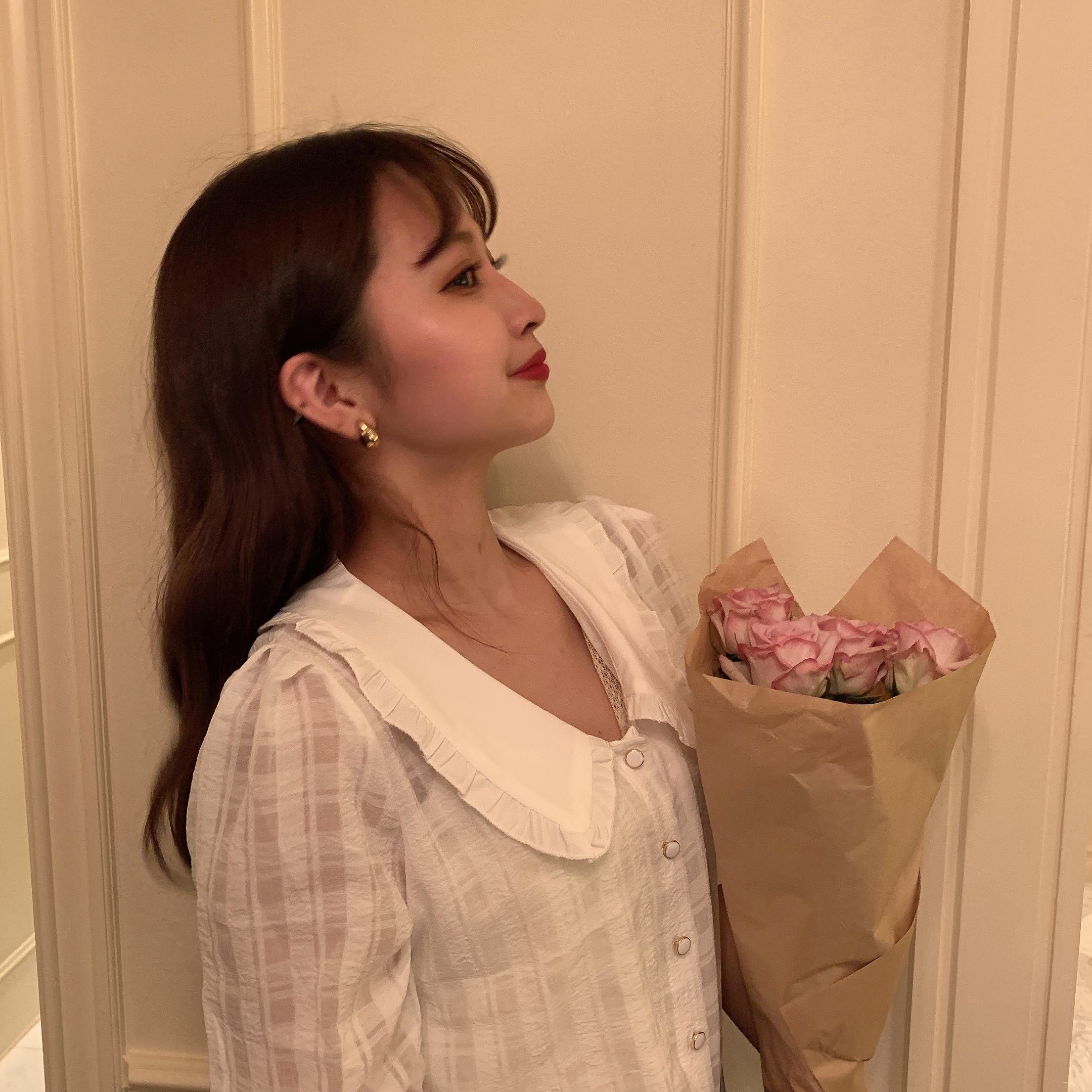 vintage frill colour blouse
