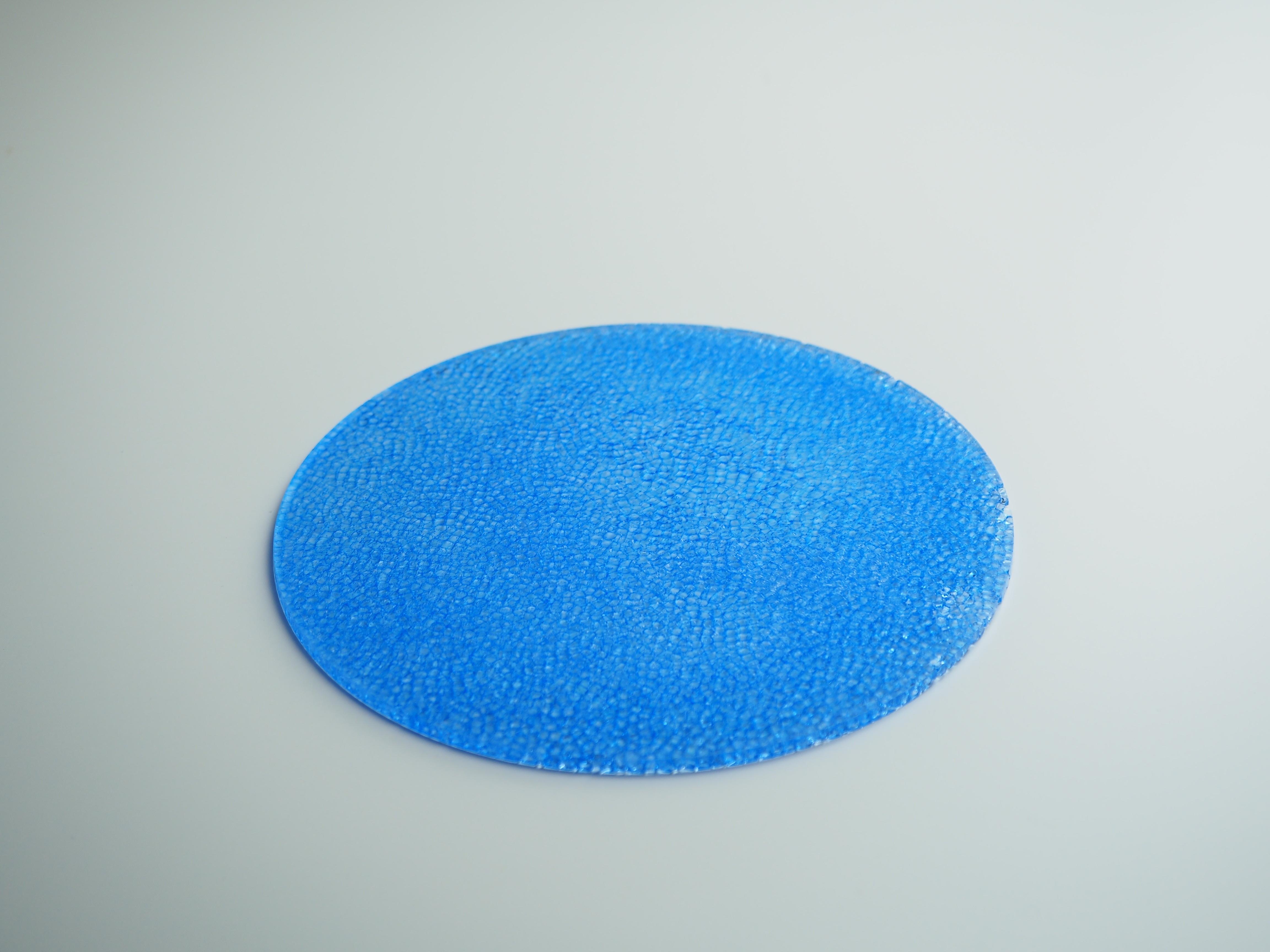インテリアプレート-CL(水色)表面凹凸あり