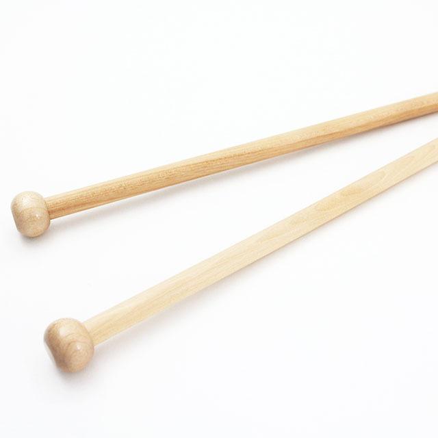 【竹製】玉付超極太 2本針 (長さ38cm 太さ20mm)