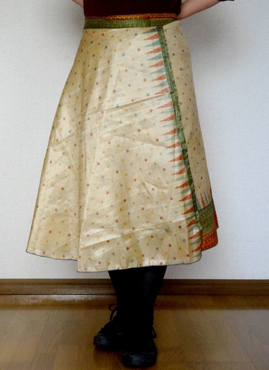 dss-003 シルクサリー巻きスカートショート