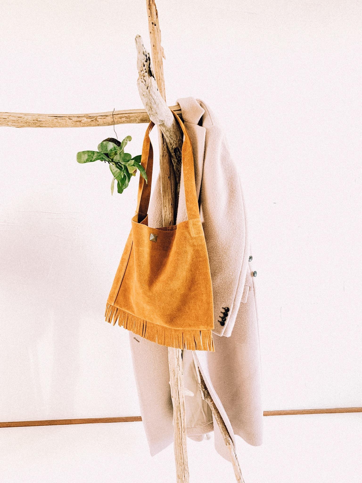native fringe bag -mustard-