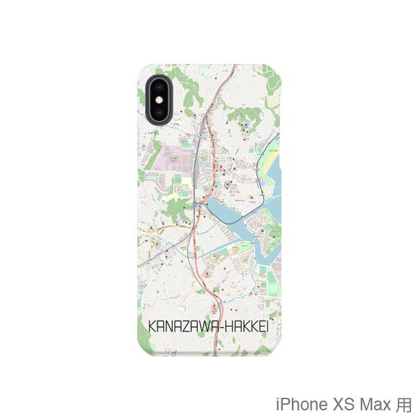 【金沢八景】地図柄iPhoneケース(バックカバータイプ・ナチュラル)