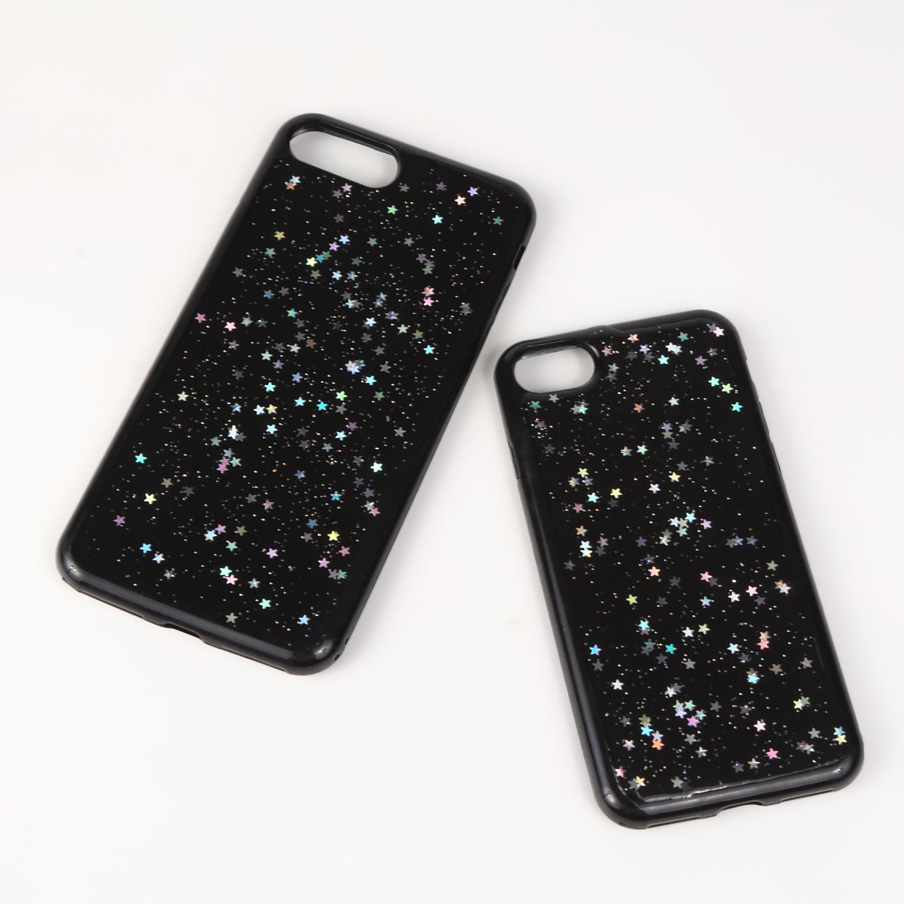 【即納★送料無料】かわいい キラキラ グリッター 星のラメ iPhoneケース