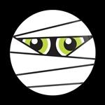 ゴーバッジ(ドーム)(CD0840 - Seasonal Halloween Mummy) - 画像1