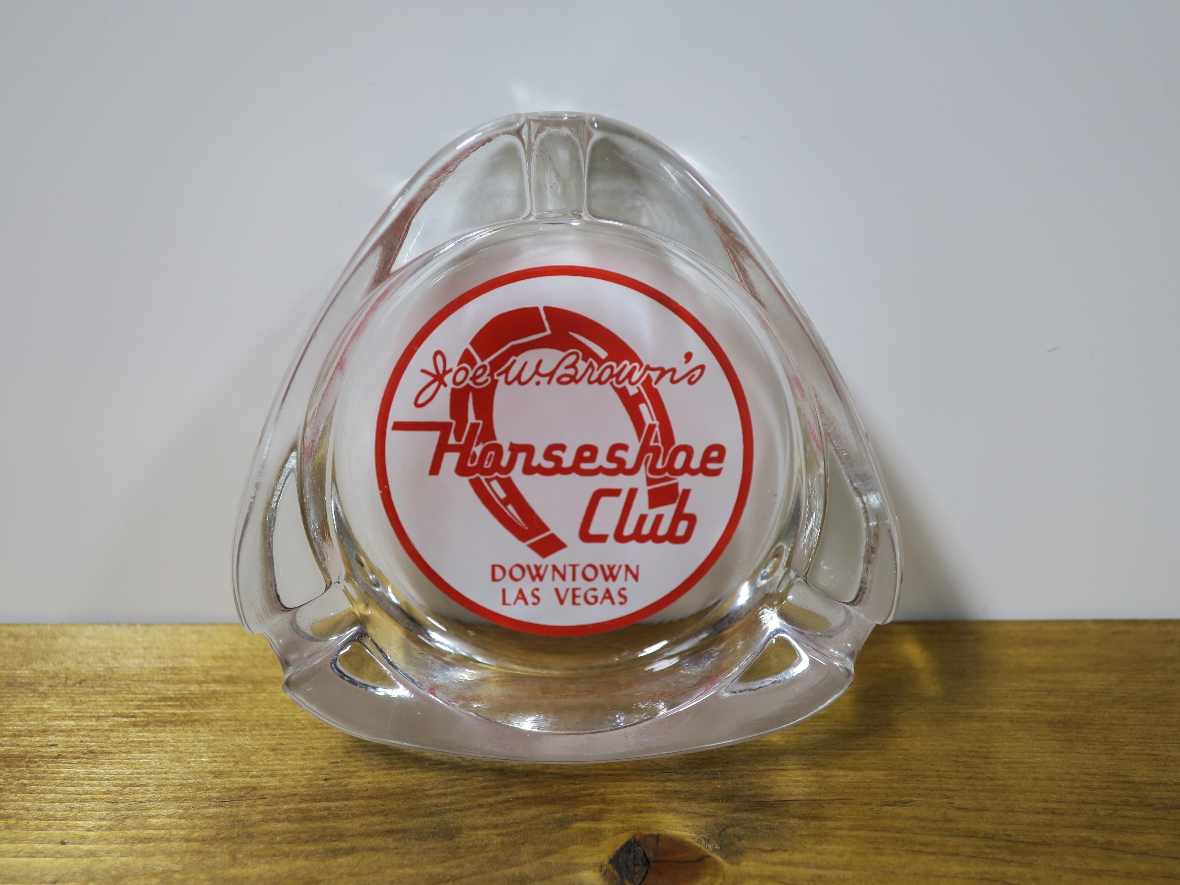 ヴィンテージU.S.A アッシュトレイ/灰皿(ガラス) HORSESHOE CLUB