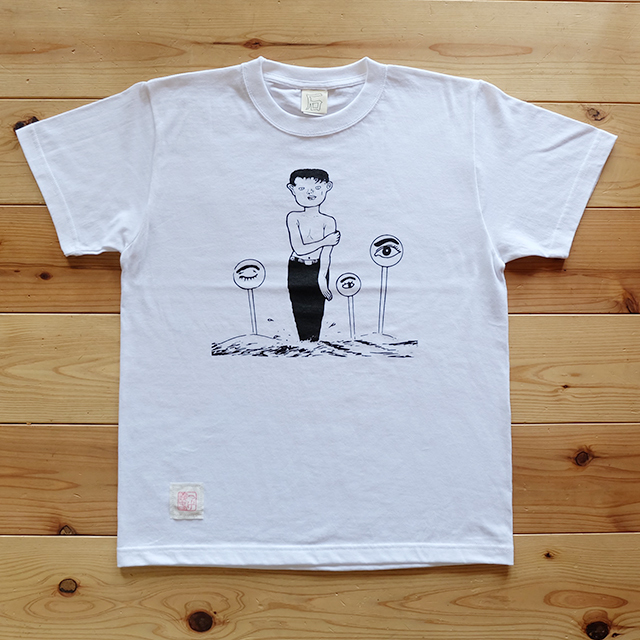 つげ義春T式シャツ「ねじ式 白」