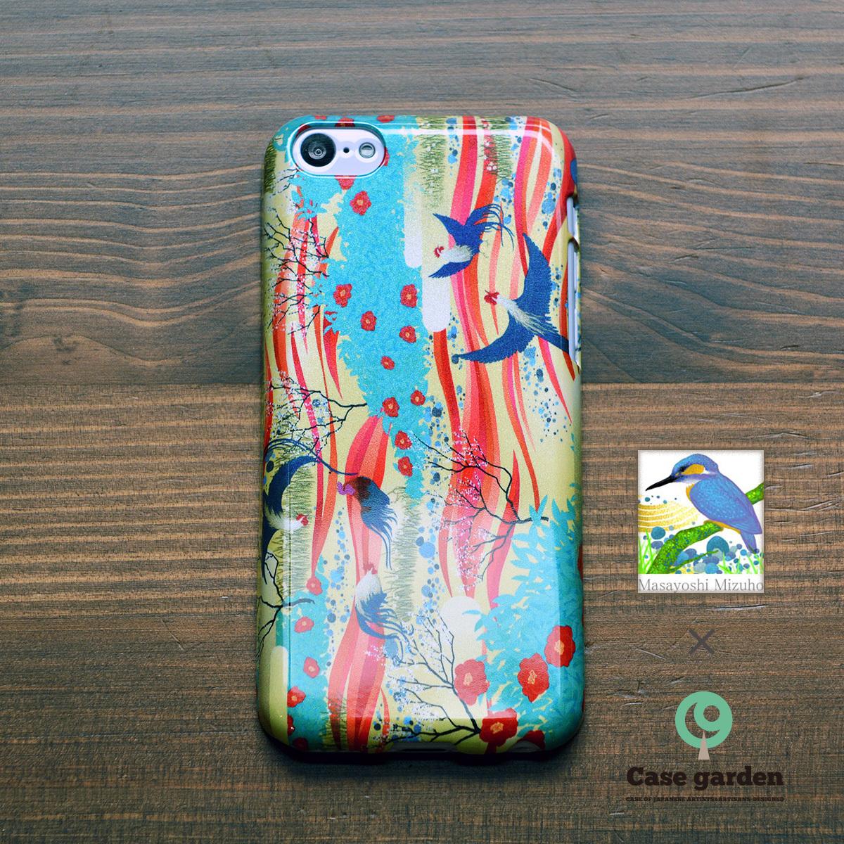 【限定色】iphone5c ケース 和柄 iphone5c ケース キラキラ アイフォン5c ハードケース 円舞/Masayoshi Mizuho×ケースガーデン