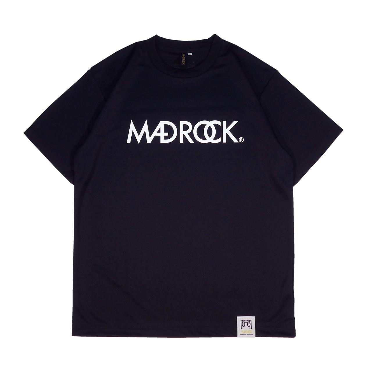 マッドロックロゴ Tシャツ/ドライタイプ/ネイビー&ホワイト