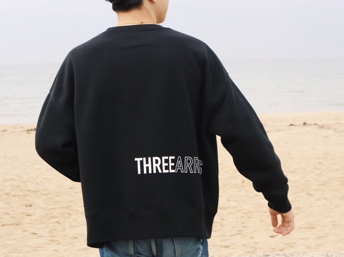 【10/23 21:00発売開始】THREEARROWS BIG SWEAT  (black)