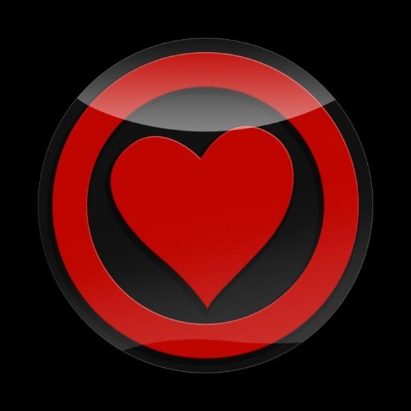 ゴーバッジ(3D)(LC0024 - 3D HEART RED) - 画像1