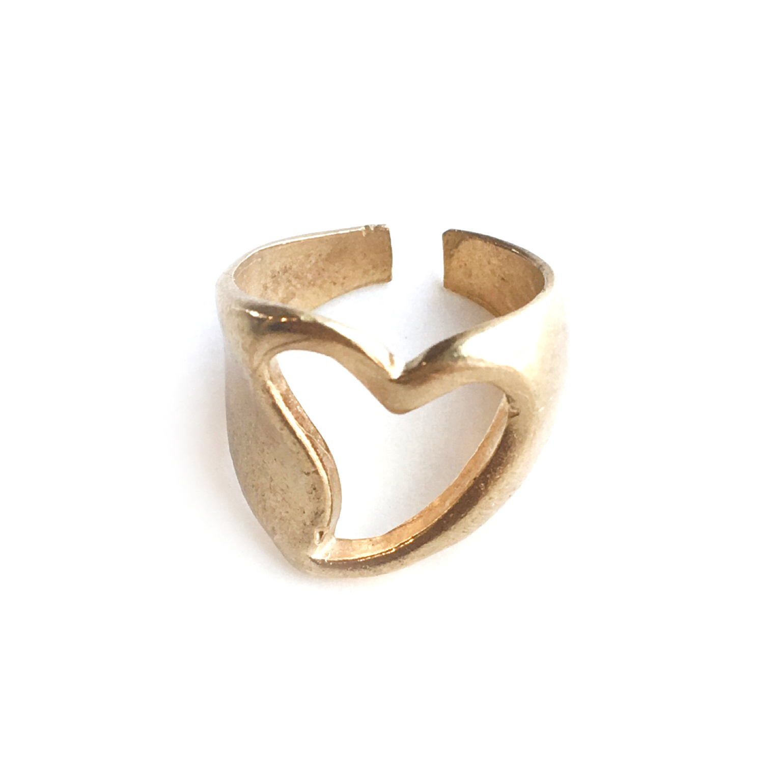 Raw brass Rings - ハートリング N0.11