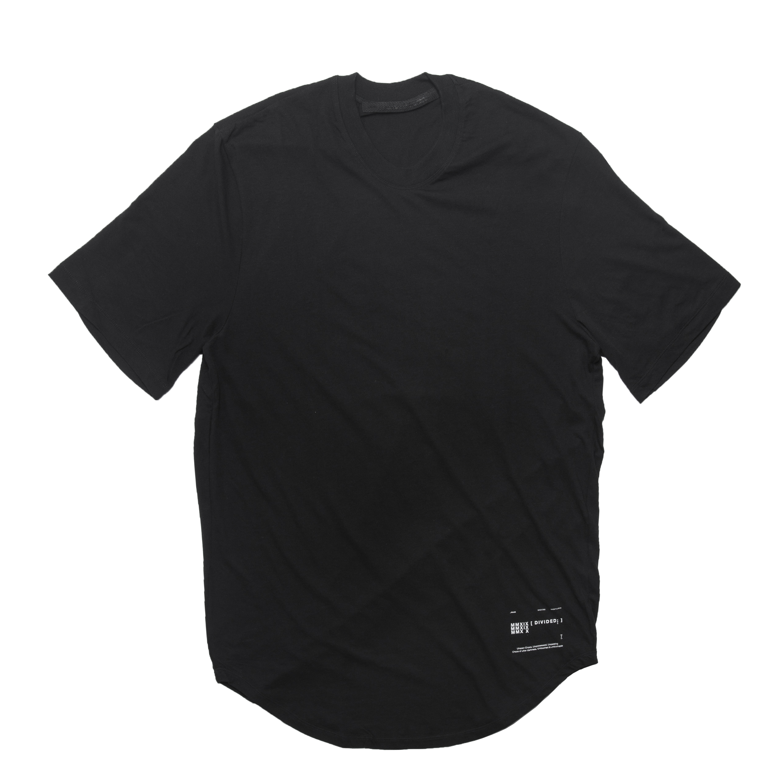 677CPM19-BLACK / ギャザーシームドラウンドTシャツ