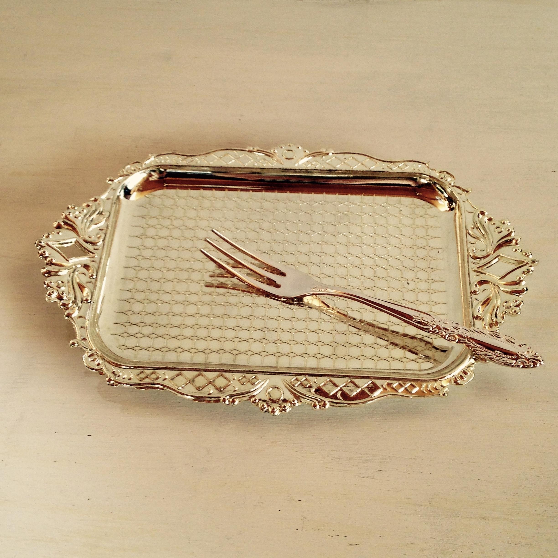 お菓子皿 フォーク付き 昭和レトロ