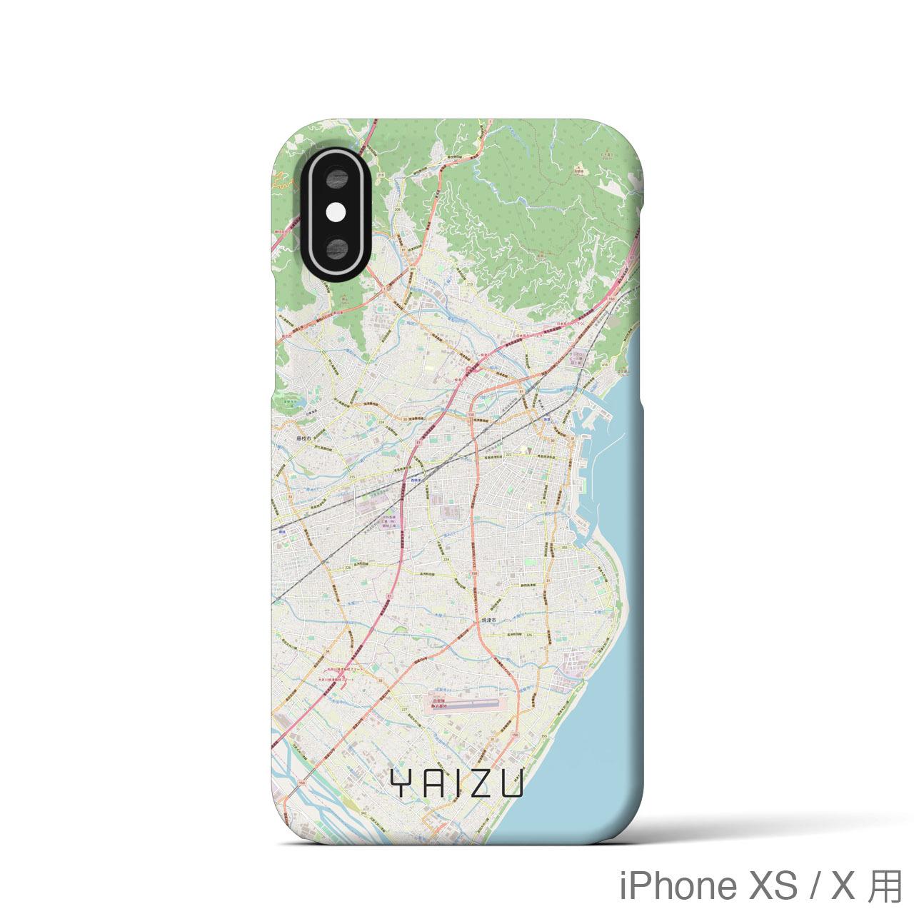 【焼津】地図柄iPhoneケース(バックカバータイプ・ナチュラル)