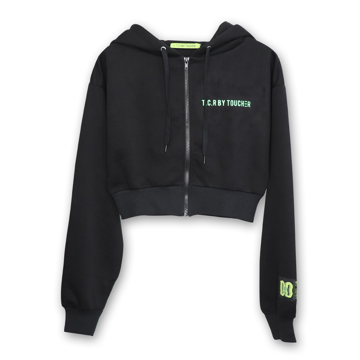 TCR SHORT LENGTH ZIP HOODIE - BLACK
