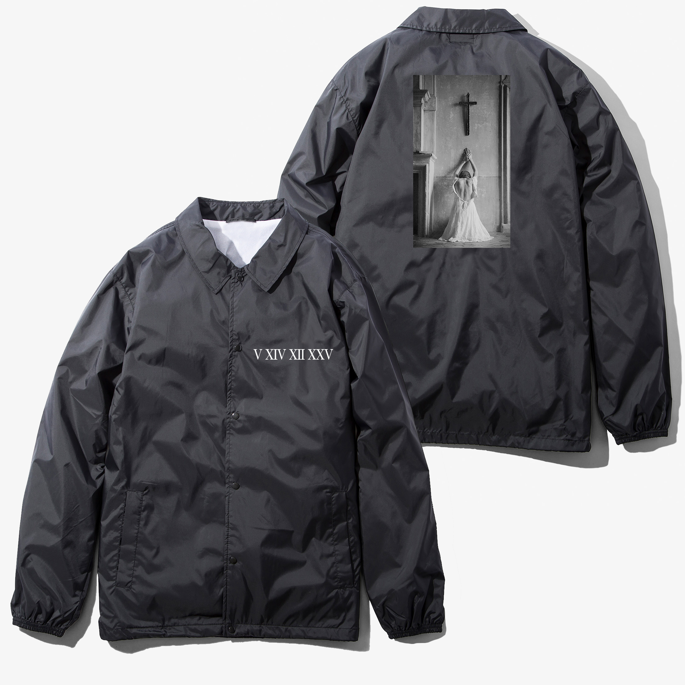 "Water Repellent Nylon Coach Jacjket ""Reverse Pray"""