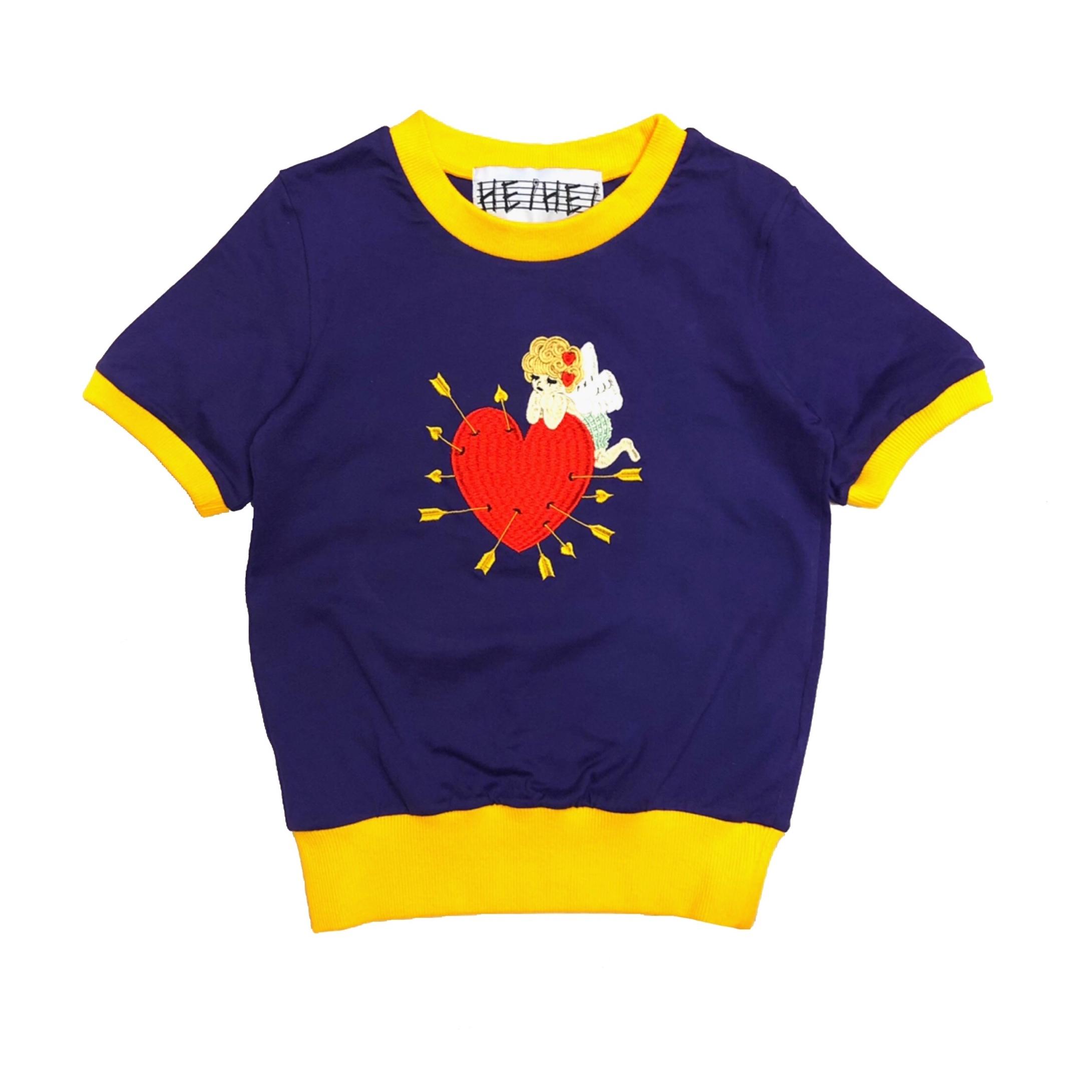 刺繍POPミニTシャツ(天使/PURPLE)