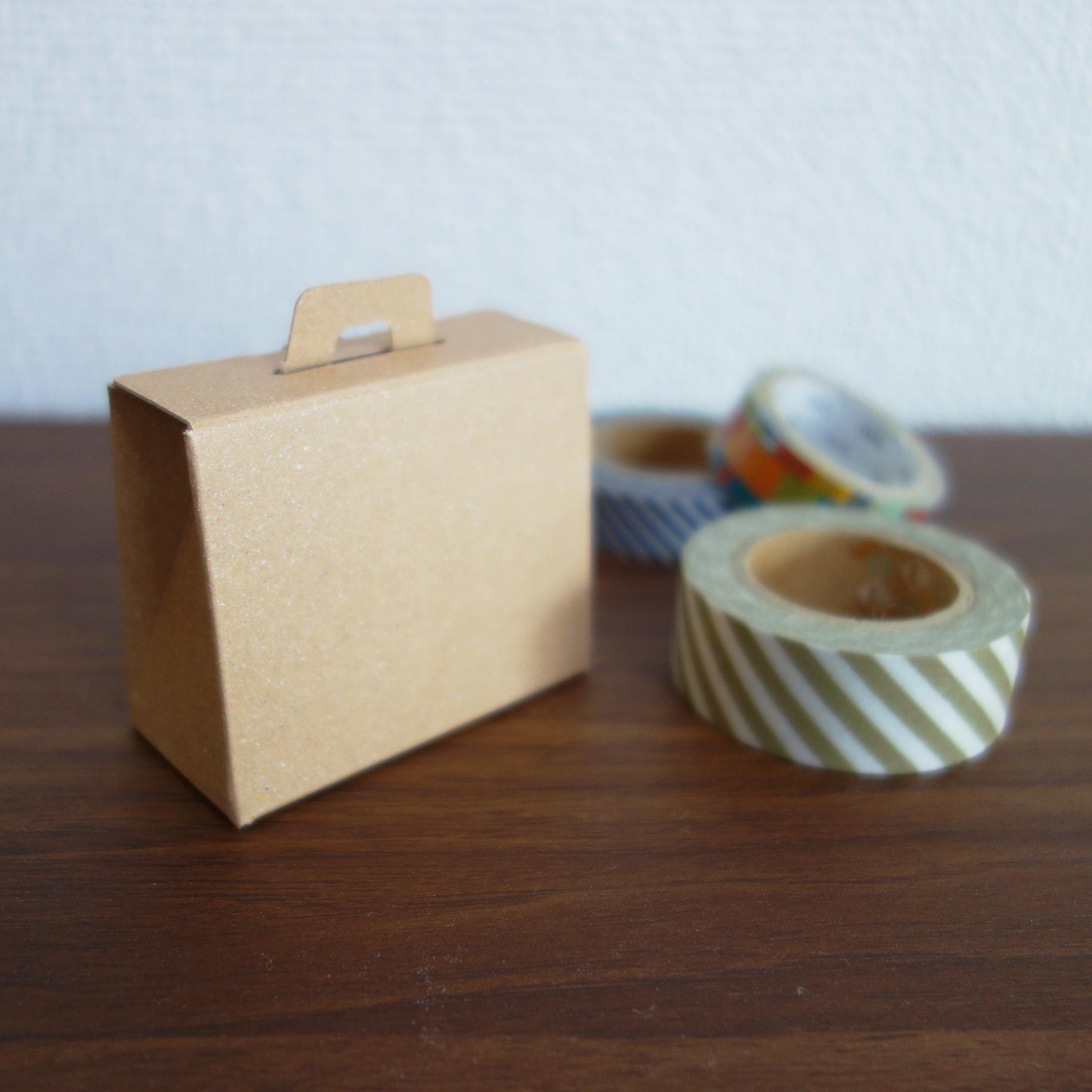 ★再販★バッグ型箱 クラフト(茶)3枚入