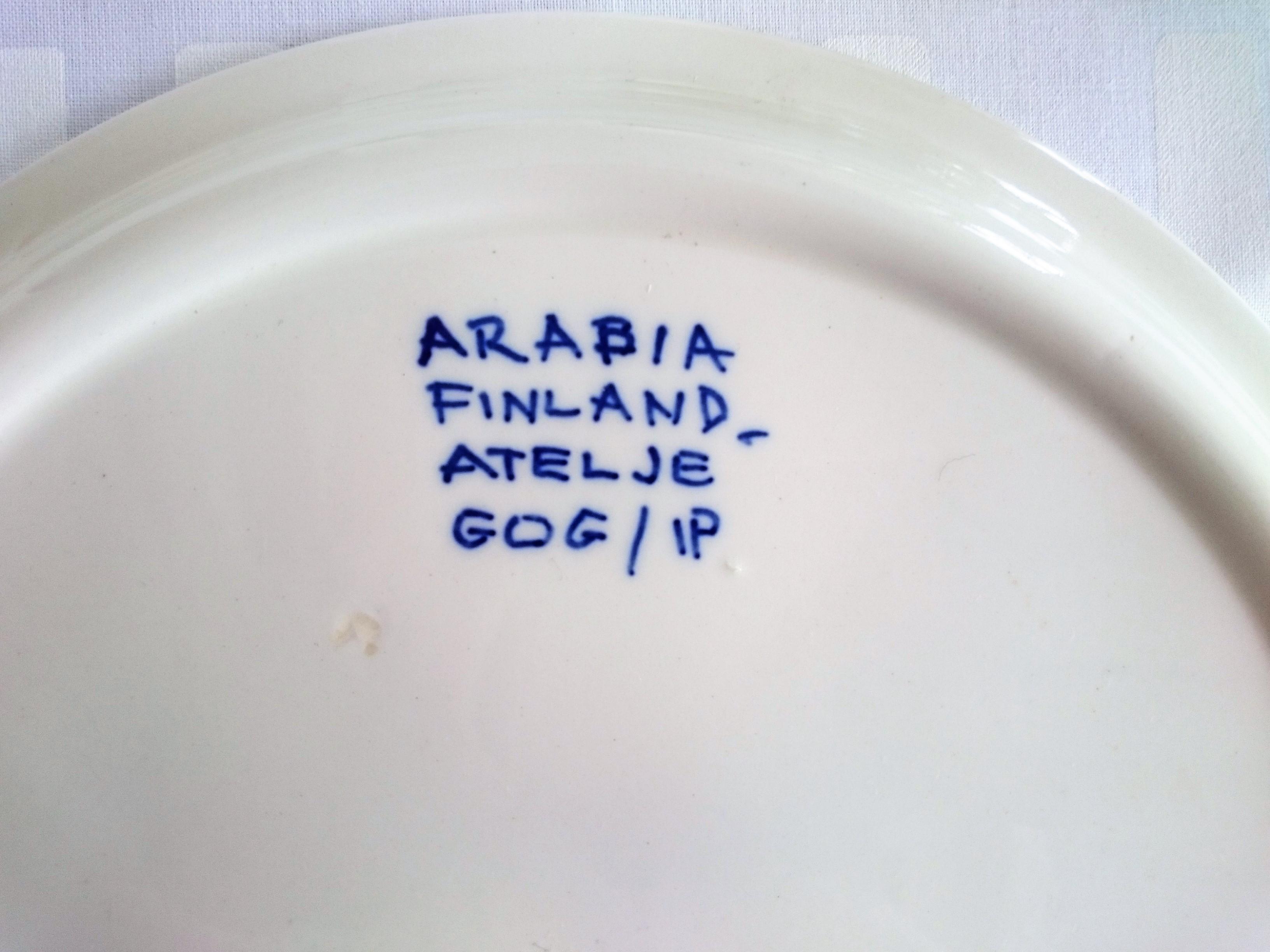 プレート / アラビア ヴィンテージ /  Atelje Köökki plate