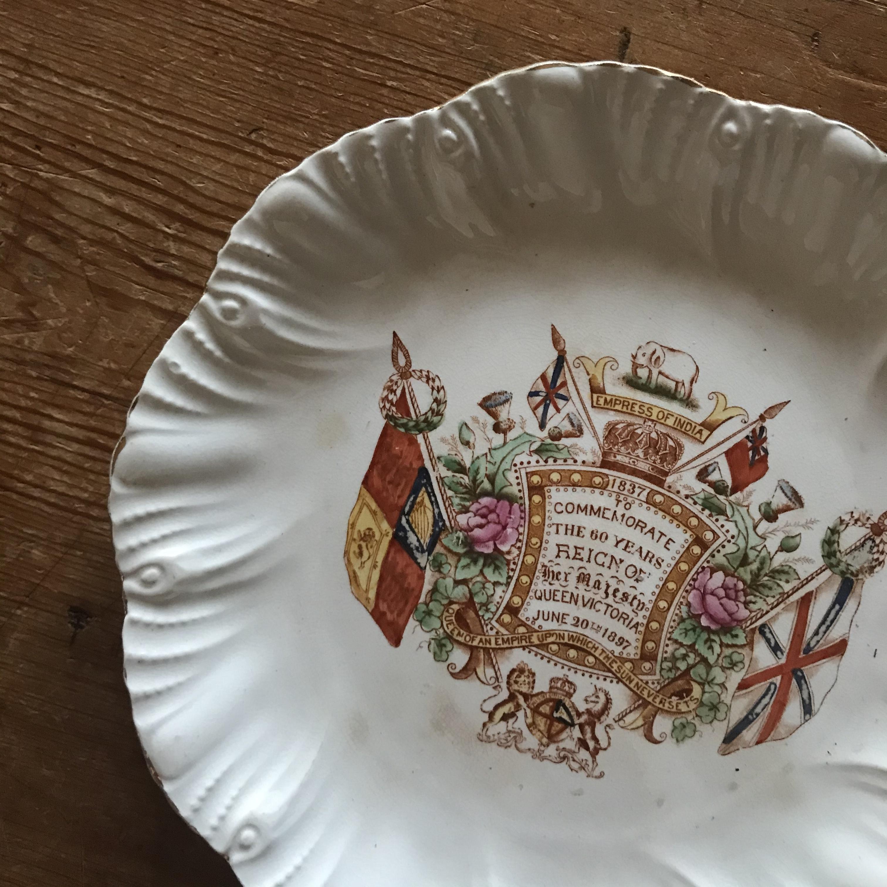 1897年 女王即位60周年のお皿