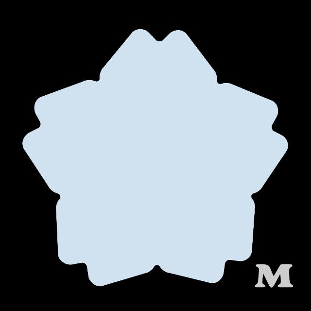 サクラ型(M)★ライトブルー