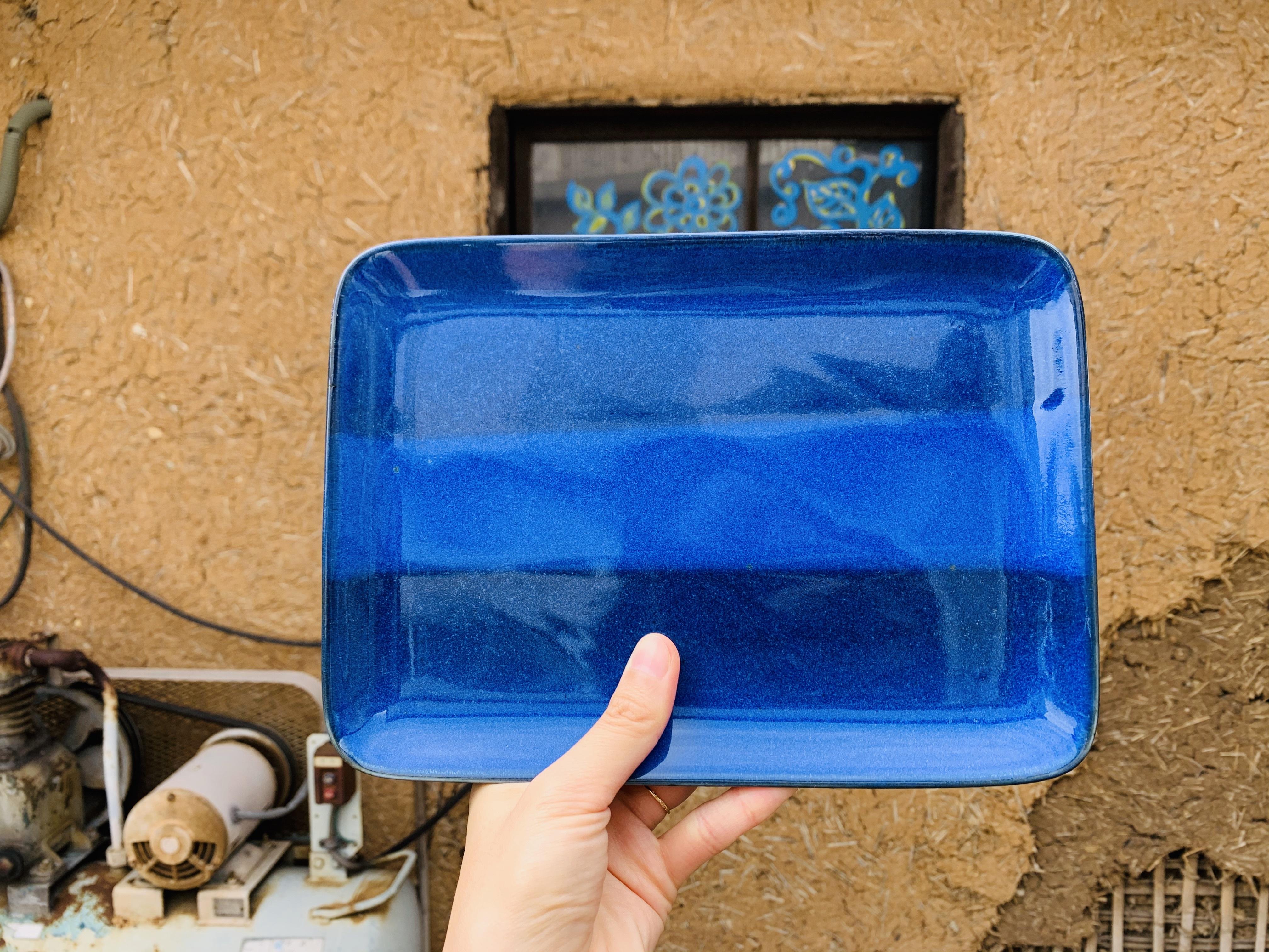 藍青レクタングルプレート