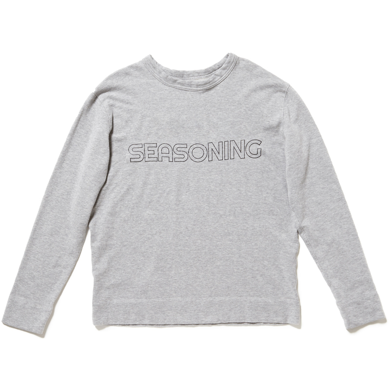 SEASONING LOGO LIGHT SWEAT SHIRT  - GRAY