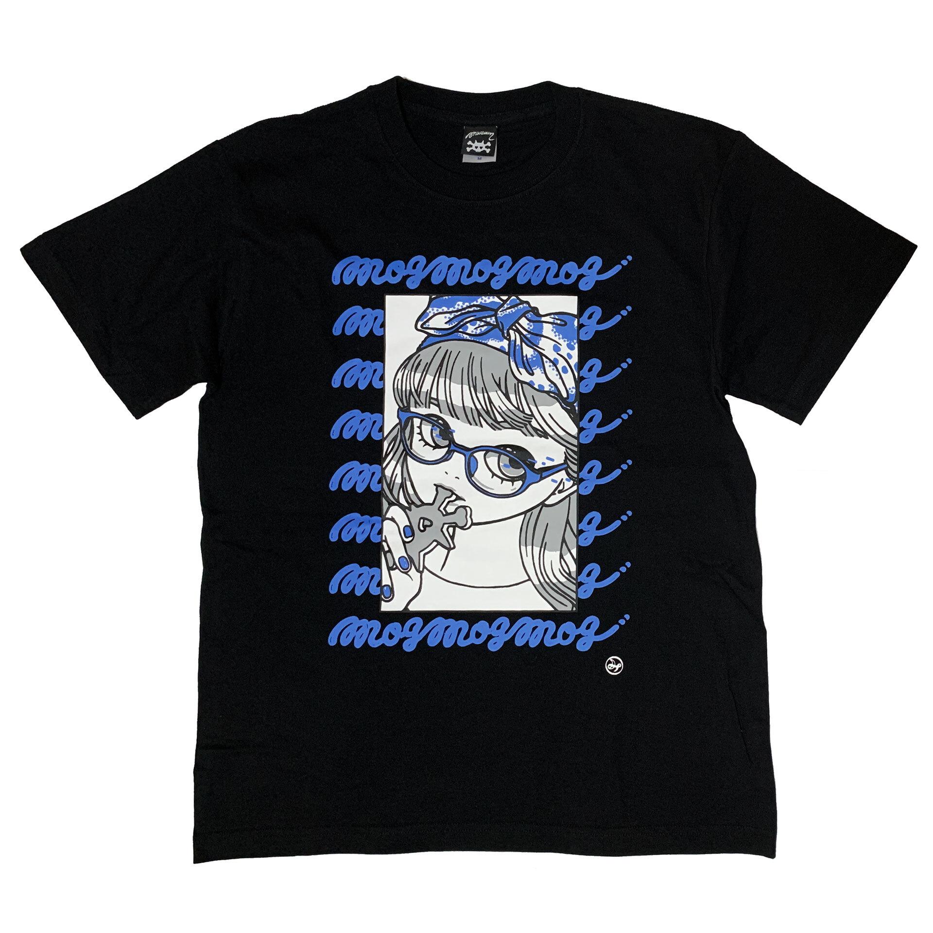 """"""" mog mog mog """" Tシャツ blue × gray [ T-016]MIKAZUKI / ミカヅキ"""