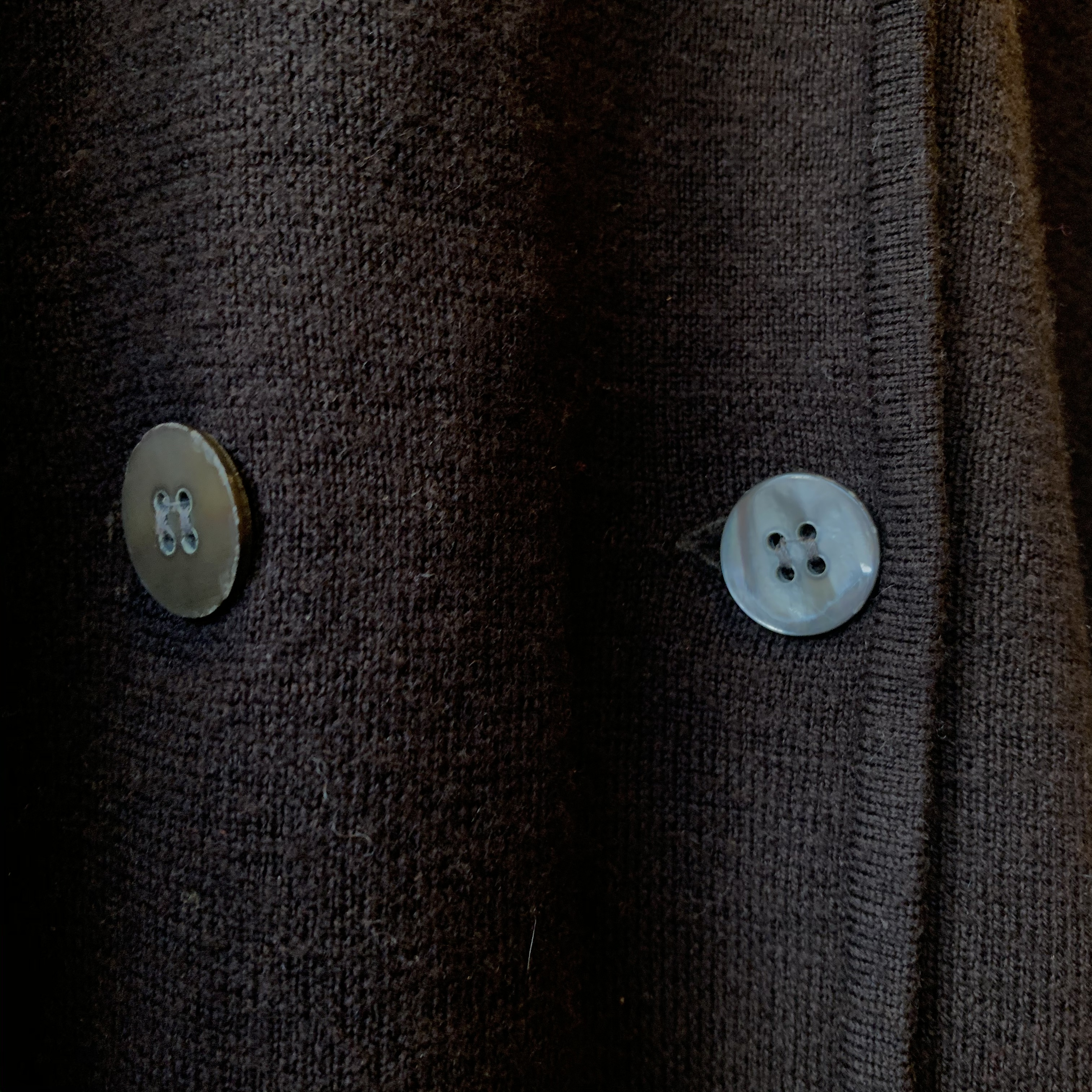 vintage double button wool knit cardigan