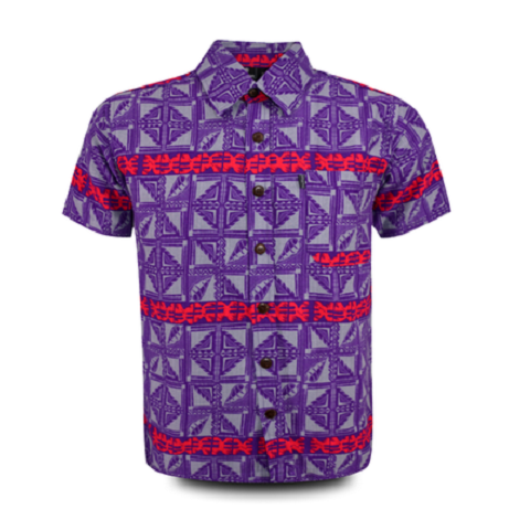 Aloha Shirt 2019 Purple × Red【Size:XL】