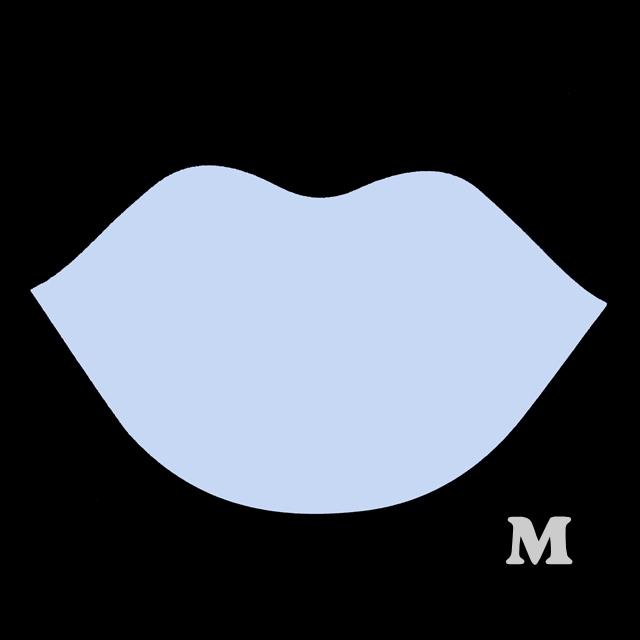 くちびる型(M)★ライトブルー