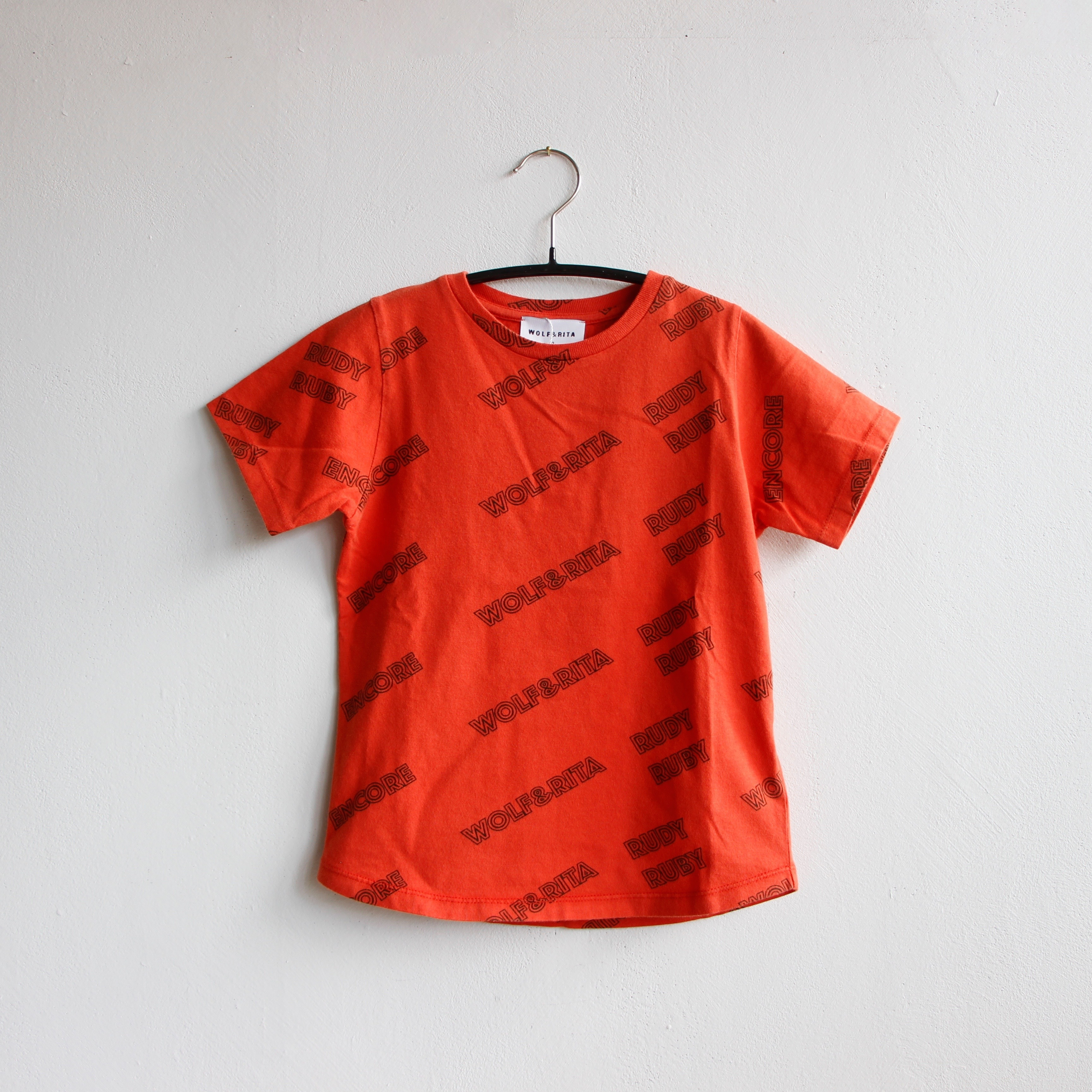 《WOLF & RITA 2020SS》 SEBASTIAO T-shirt / RUDY RUBY RED