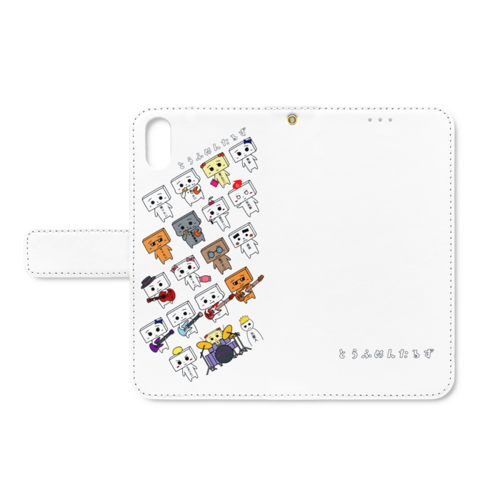 とうふめんたるずの日常 手帳型iPhoneケース XS / X