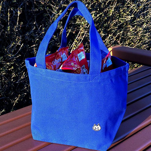 【送料100円!】けっこう入るおでかけバッグ【ブルー】 - 画像1