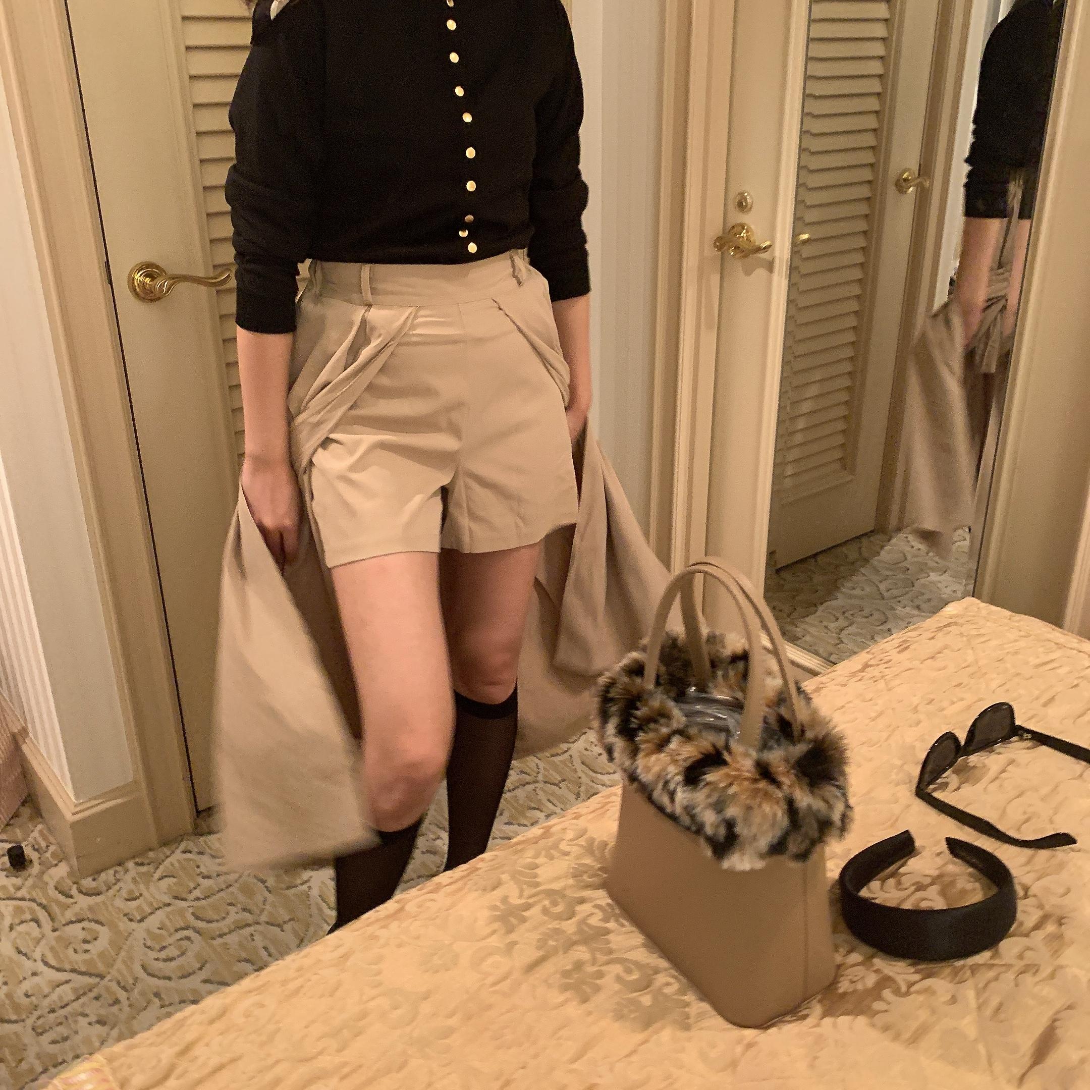 trench skirt pants