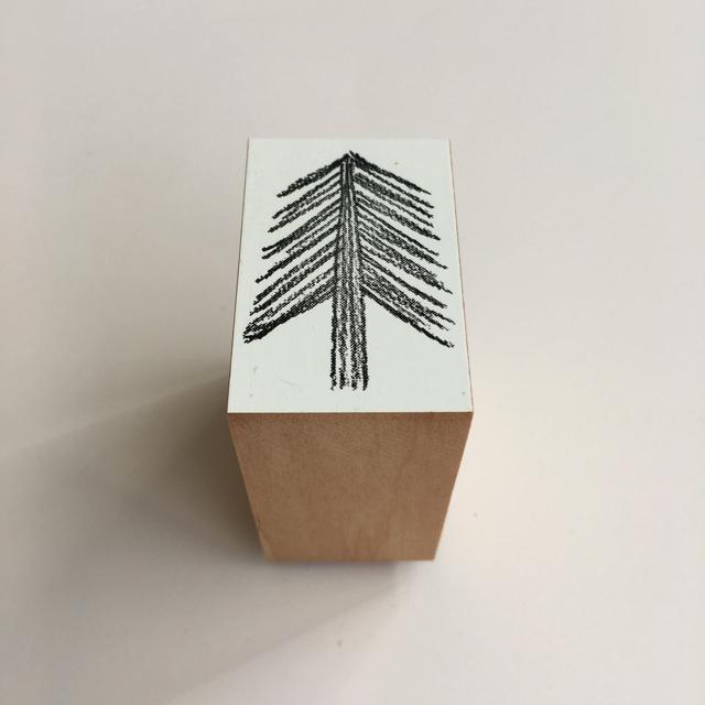 カタチ×ソラモヨウスタンプ needled tree
