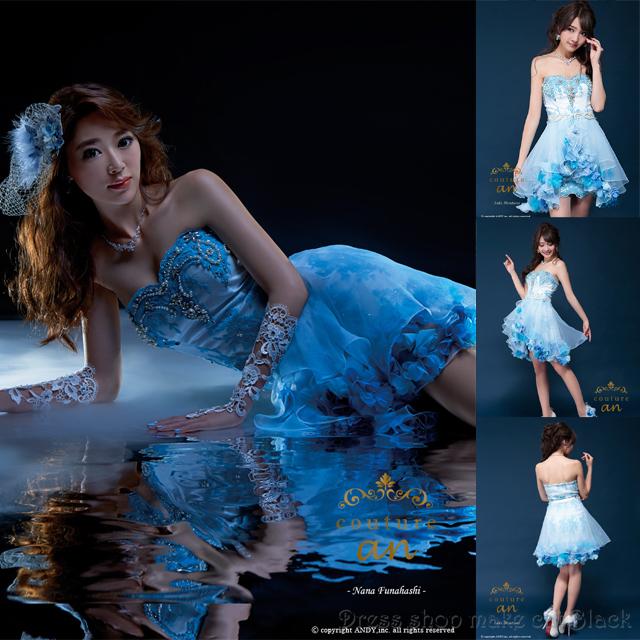 人気再入荷(Sサイズ)  ミニドレス 2way ¥51,840- (税込) キャバドレス パーティー ドレス AOC-2047