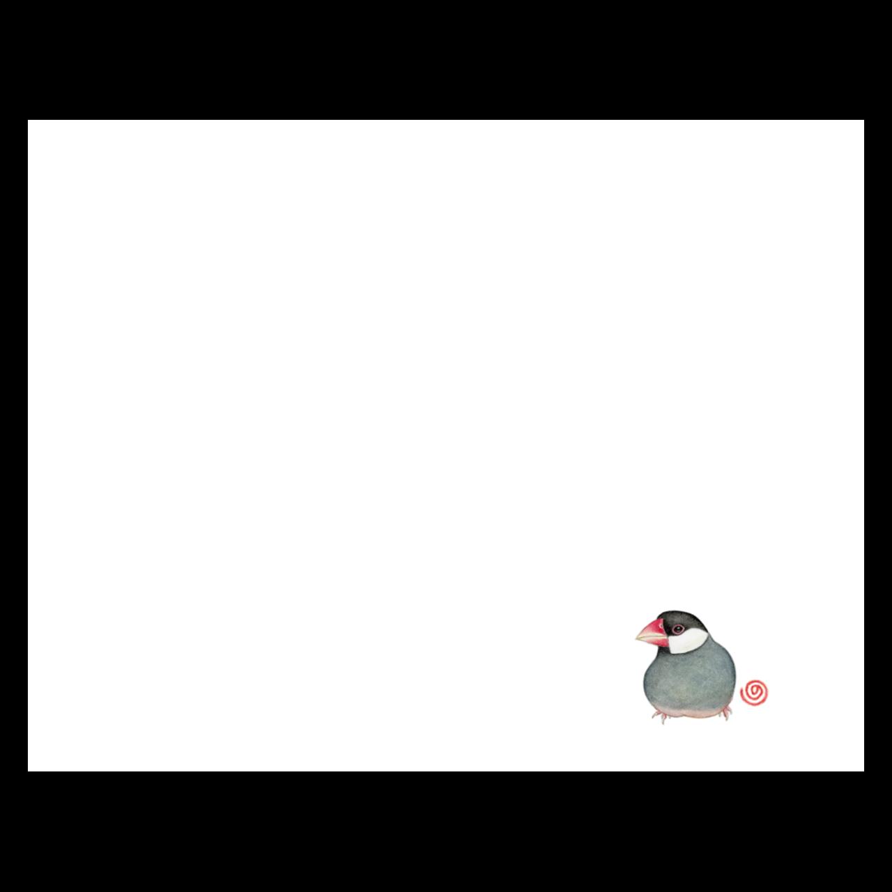 NORISANの小鳥マスク(桜文鳥)