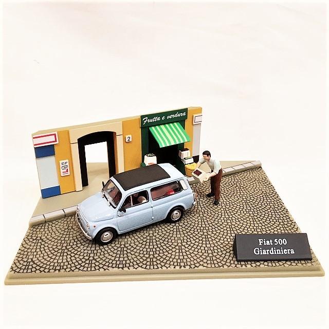FIAT500 Giardiniera Diorama 1/43【CANENCO】【1点のみ】【税込価格】